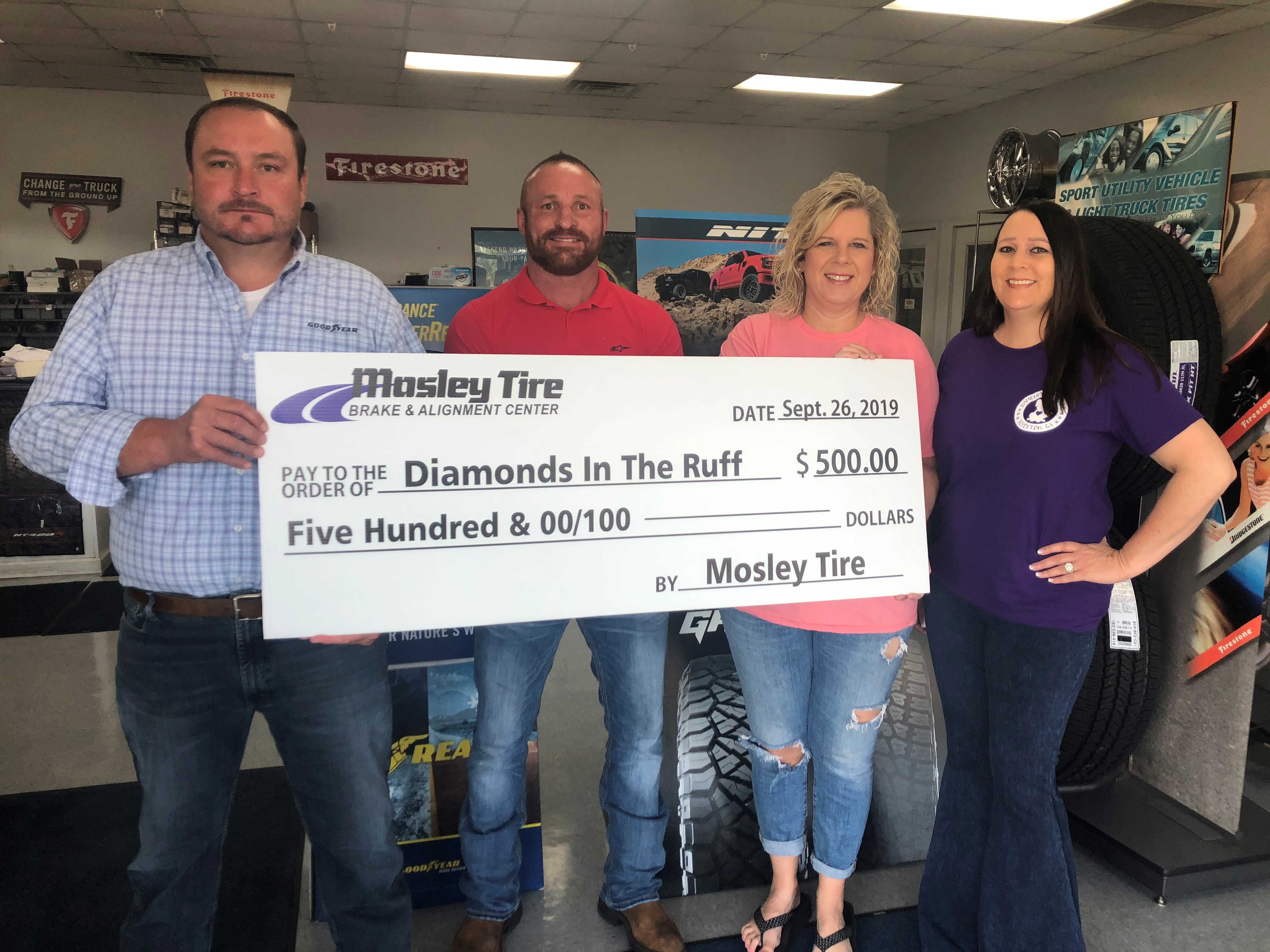 Mosley Tire Contribution Photo