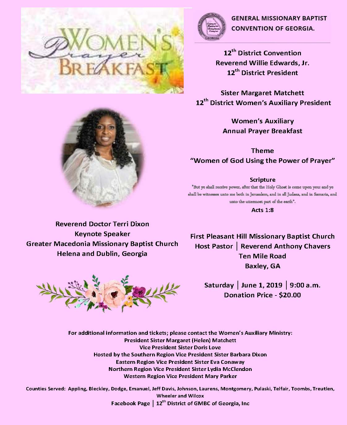 2019 06-01 Women's Prayer Breakfast at First Pleasant Hill