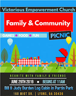 2019 06-29 Family & Community Picnic at Partin Park