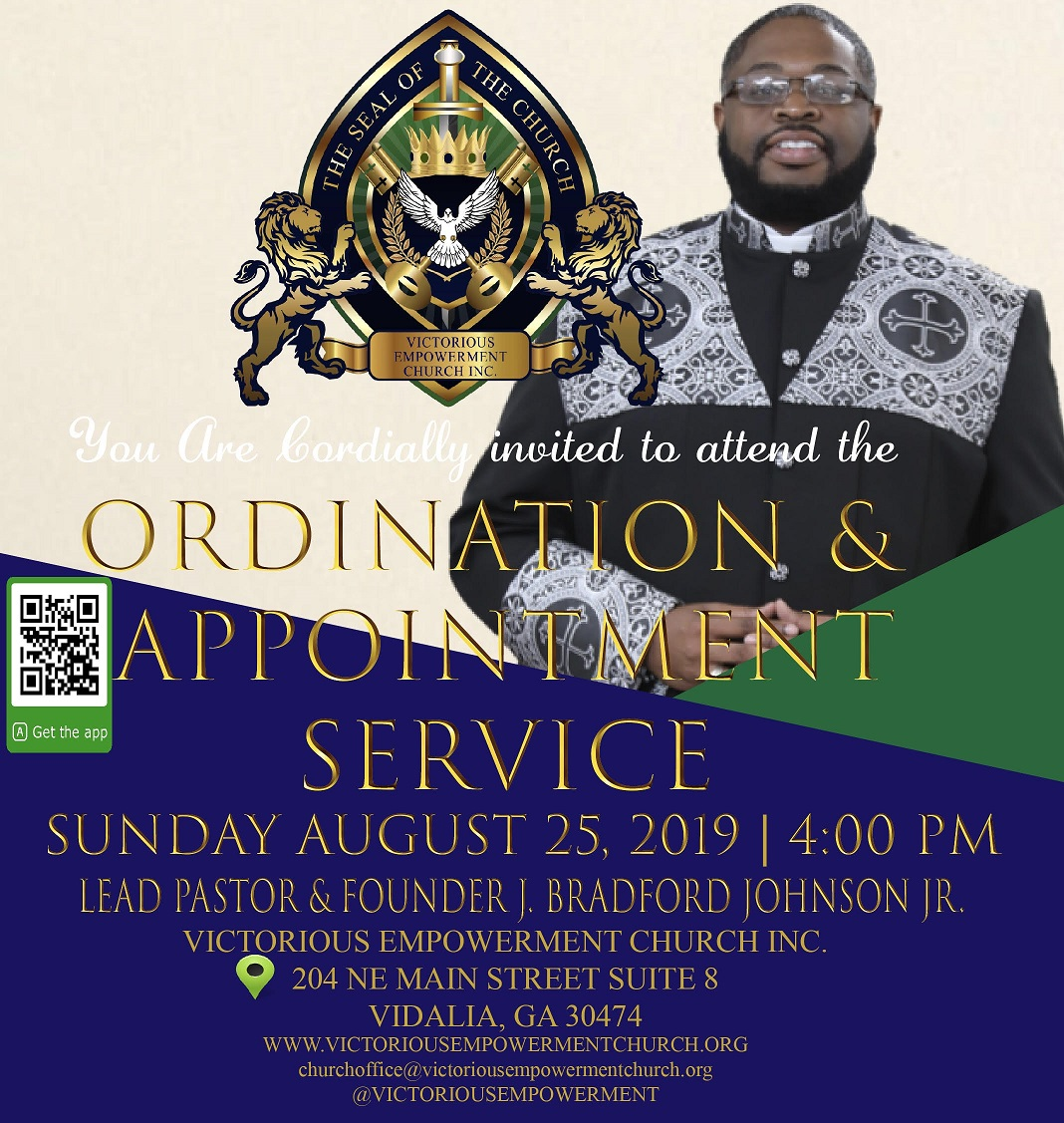 2019 08-25 Ordination & Appointment Service at Victorious