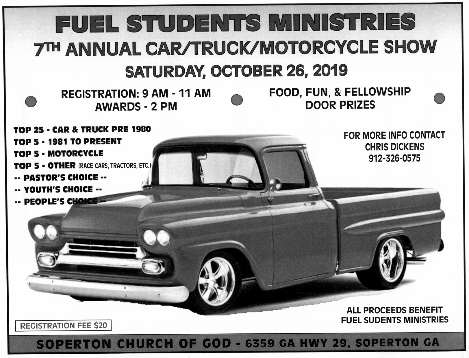 2019 10-26 Benefit Car, Truck & Motorcycle Show at Soperton COG