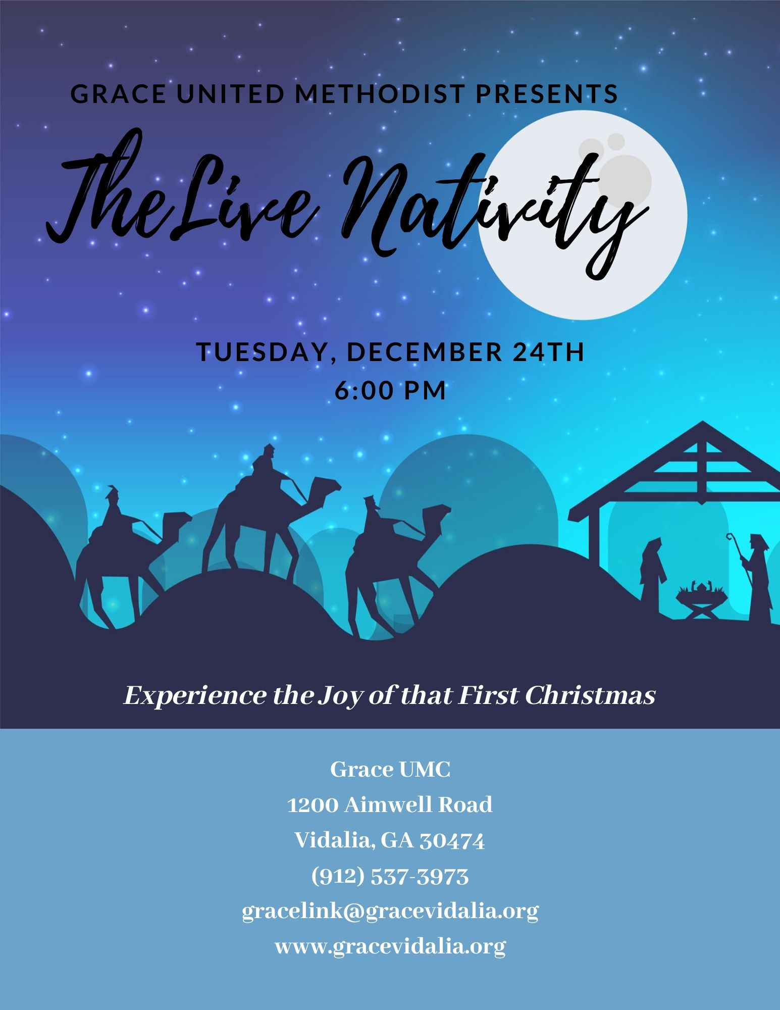 (Updated) 2019 12-24  The Live Nativity at Grace United