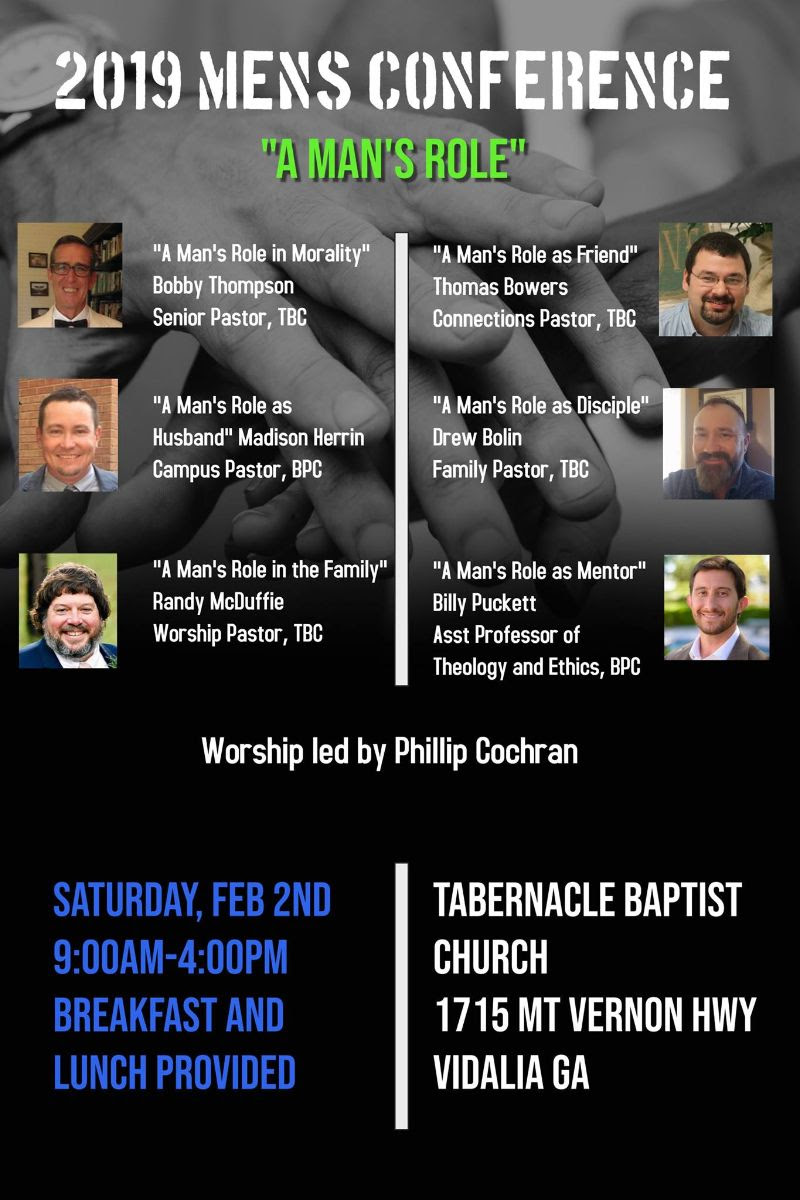 2019 02-02 Men's Conference at Tabernacle Baptist in Vidalia