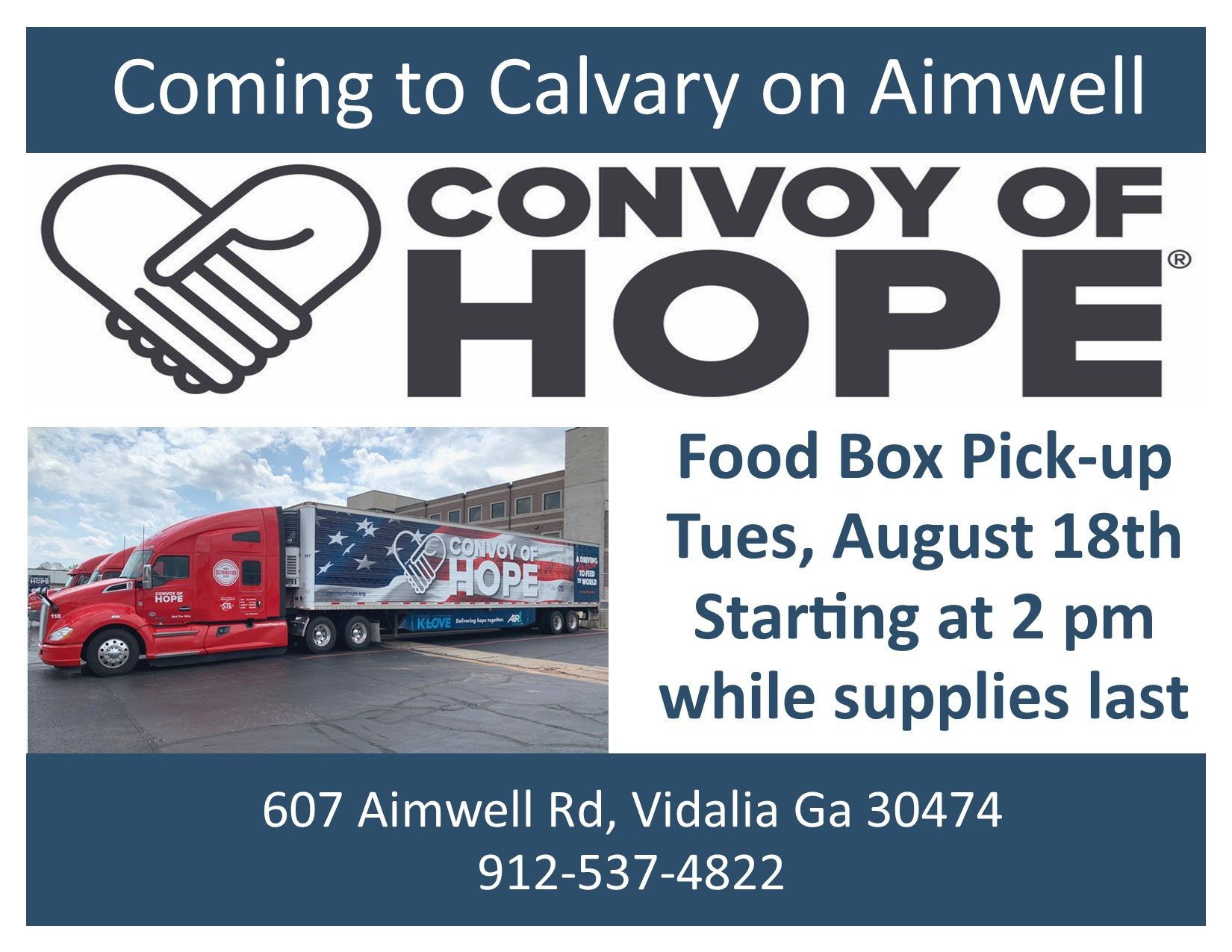 2020 0812 Convoy of Hope Food Drive