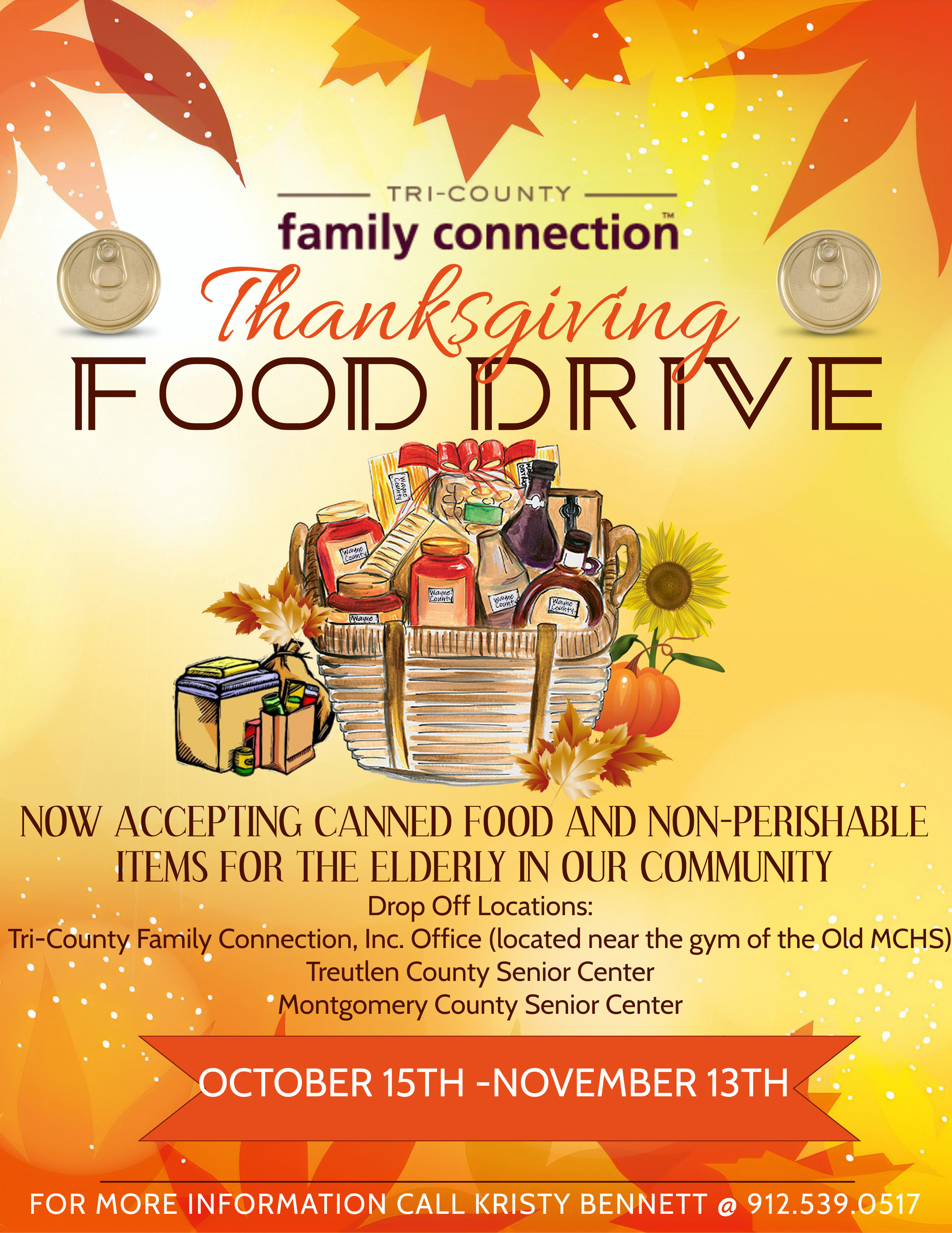 2020 11-13 Thanksgiving Food Drive