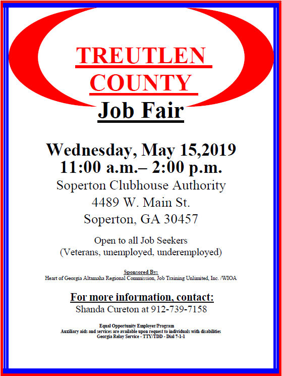 2019-05-25 Treutlen County Job Fair