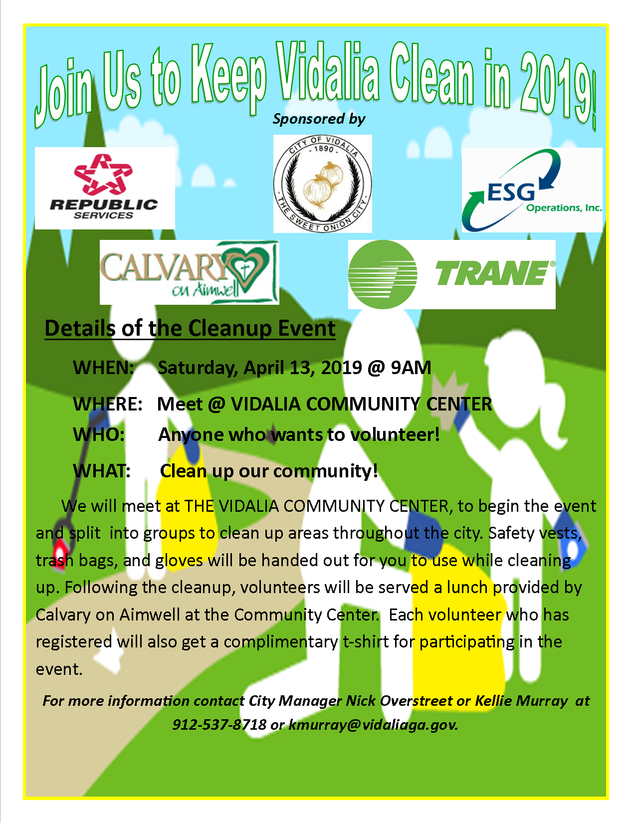 2019-04-13  Keep Vidalia Clean