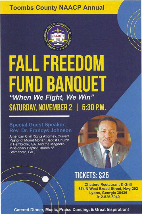 2019-11-02 Fall Freedom Fund Banquet - Toombs County