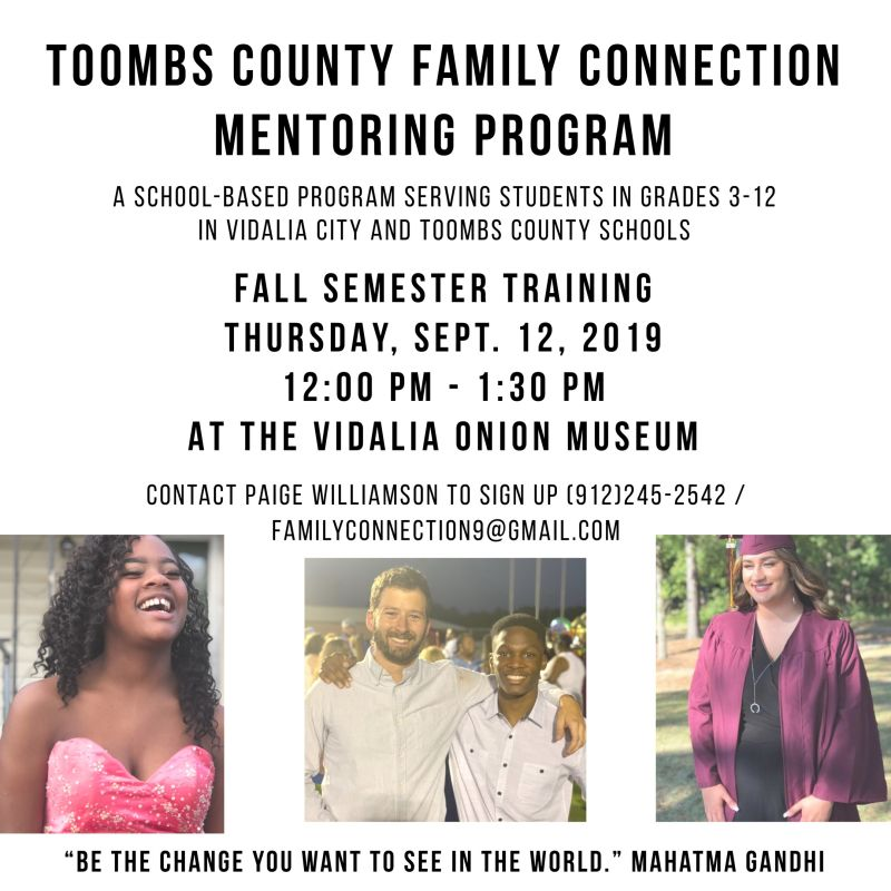 2019-09-12 Family Connections Mentoring Opportunity