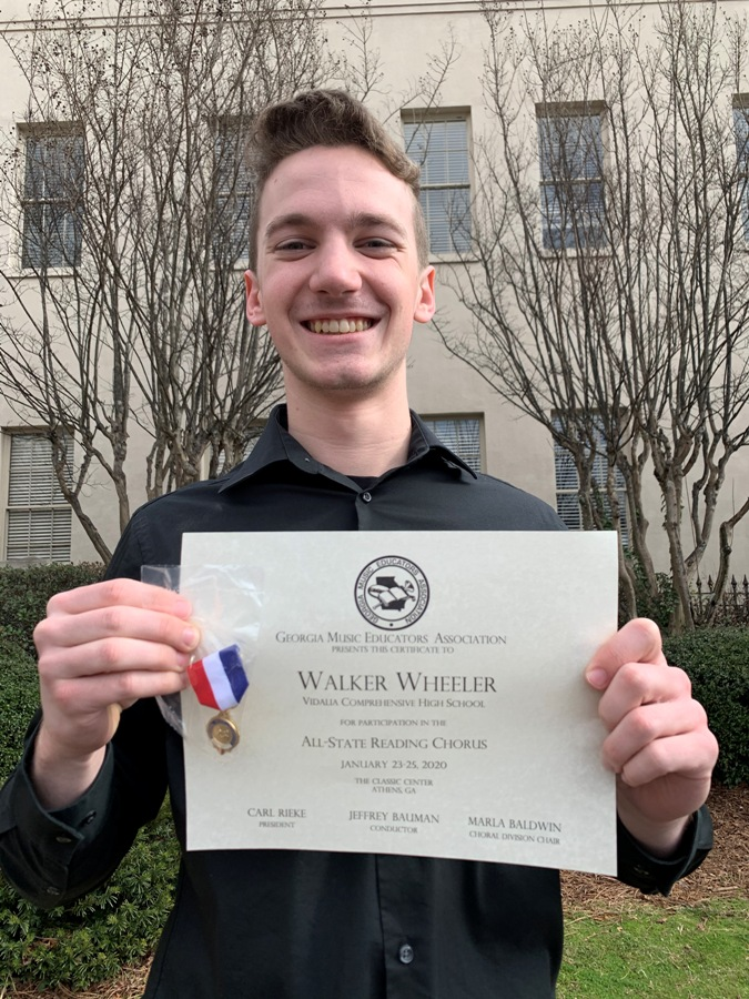 VCHS' Wheeler All-State Reading Choir Singer