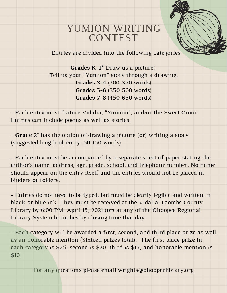 Yumion Writing Contest