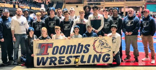 Toombs County Wrestlers Take 4th Place at State Duals