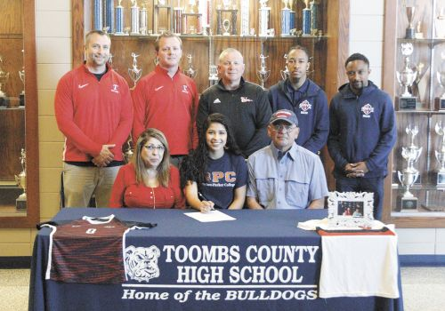 Three Lady Bulldogs Sign Letters of Intent For Scholarship