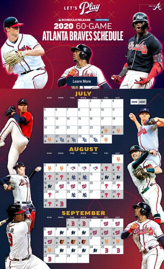 2020 60-Game Atlanta Braves Schedule